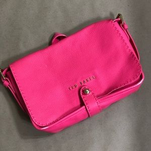 TED BAKER hot pink crossbody bag